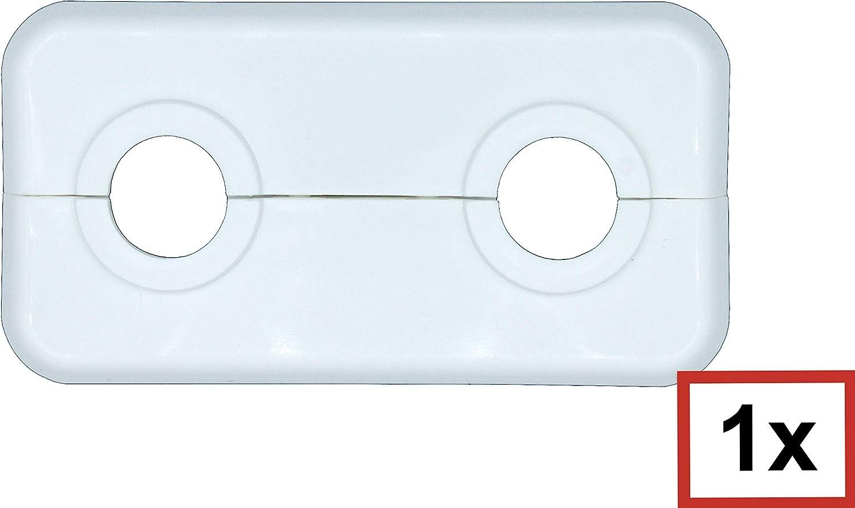 Heizung Abdeckung f/ür Heizungsrohre 12mm bis 21,3mm; wei/ßes Polypropylen 18mm Heizk/örper 2-teilig Doppel-Rosette f/ür Heizungsrohre