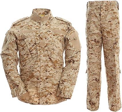 Noga - Traje de chaqueta y pantalón de camuflaje, de combate, de campo, de uniforme militar, para juegos, paintball, color Desierto Camo., tamaño medium: Amazon.es: Deportes y aire libre