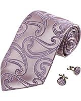 YAB1B05 Multi-Colored Pattern Comfort Presents Mens Silk Tie Set 2PT By Y&G