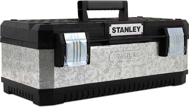 Advanced caja de herramientas Stanley de Metal galvanizado plateado y negro 510 mm/50,8 cm [unidades 1] con Min 3 años Cleva garantía: Amazon.es: Bricolaje y herramientas