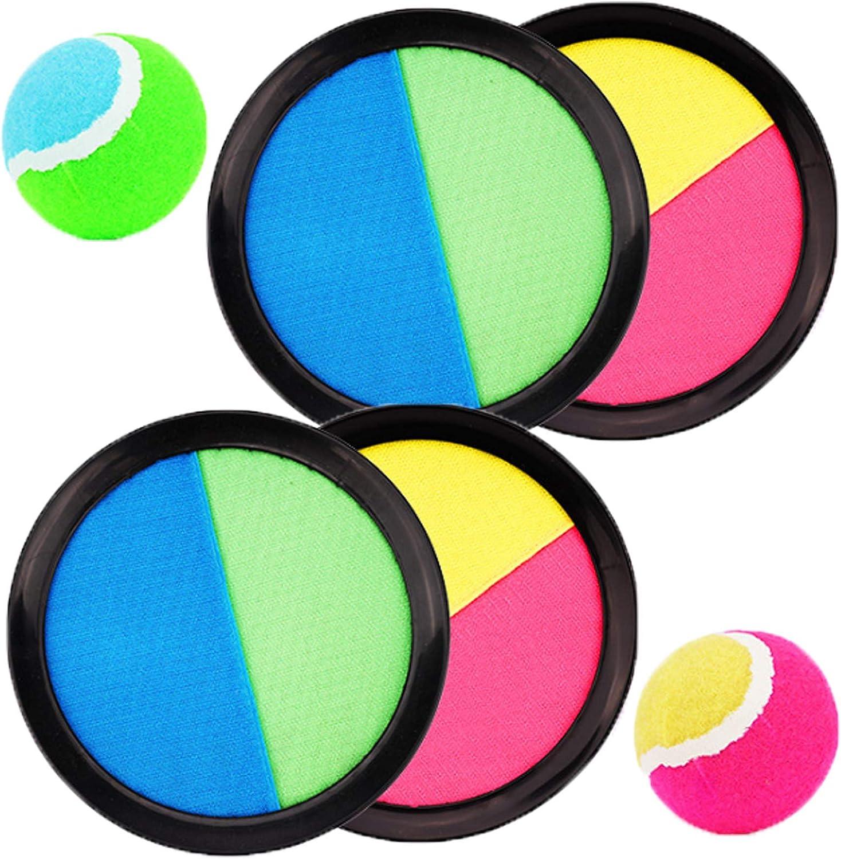 WENTS Catch Ball e Toss Game Set Disco Toss e Catch Paddle Game con 1 Borsa di stoccaggio 4 Paddle e 2 Palle
