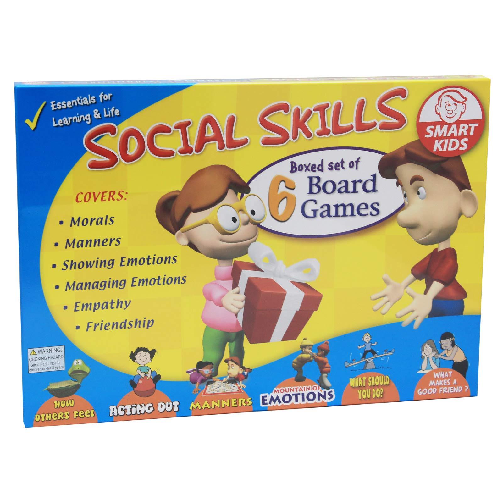 Didax 500063 Social Skills Group Activities, 6 Board Games
