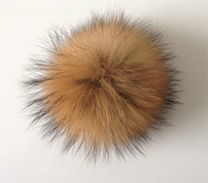 b073e01d4c643 Image Unavailable. Image not available for. Color  Roniky Real Raccoon Fur  Pom ...