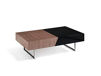 Angelcerda Extendable Coffee Table Made Of Walnut 4 Drawers