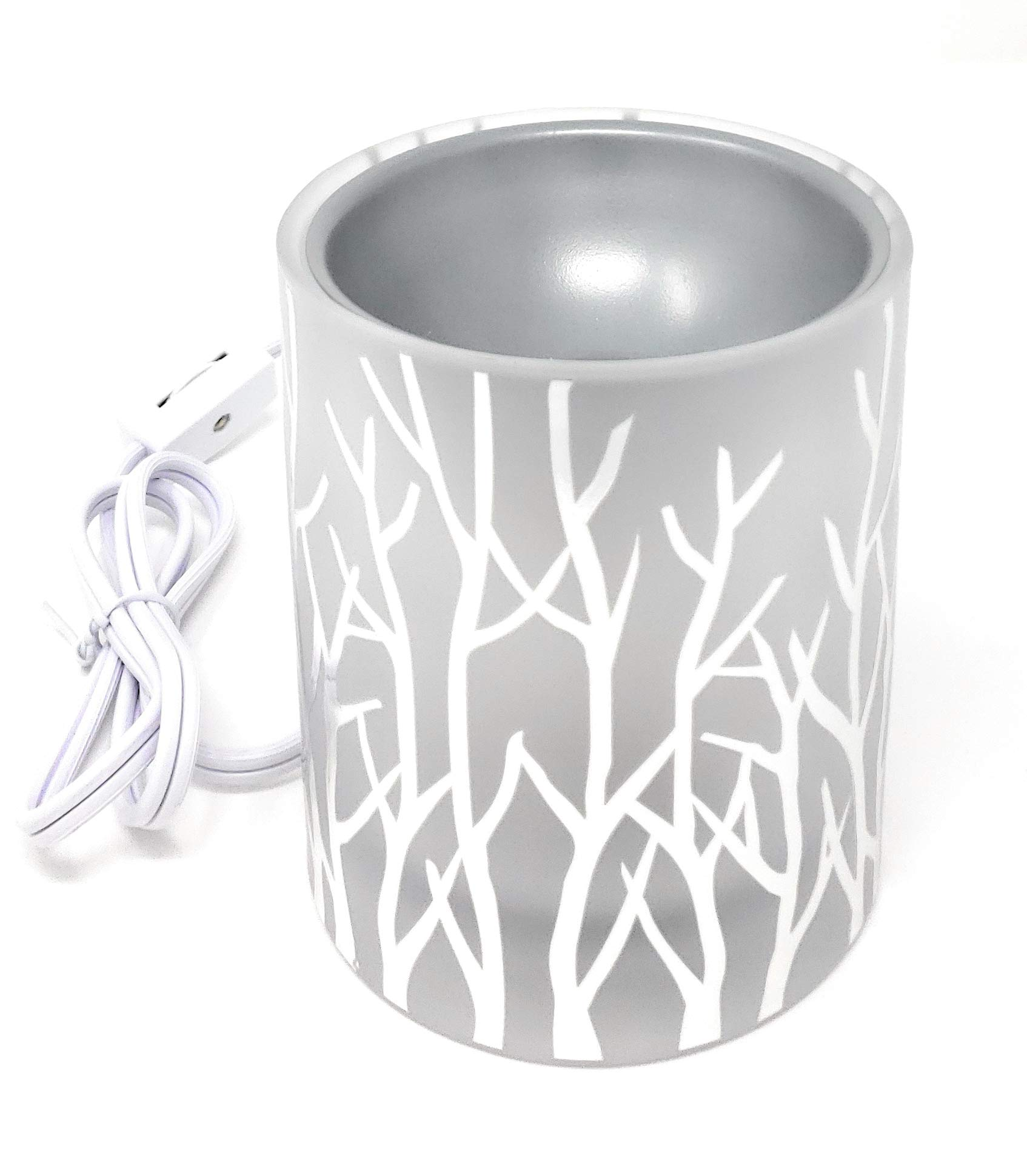 Yankee Candle Silver Winterscape Forest Glow LED Electric Wax Melts Warmer