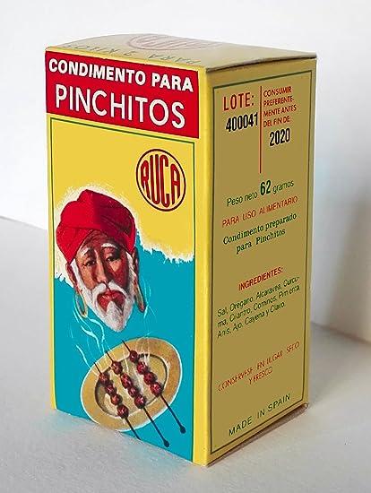 Ruca - Condimento para pinchitos (62gr): Amazon.es: Alimentación y bebidas