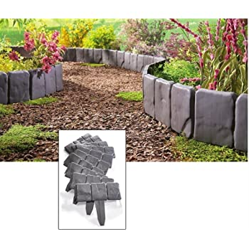 amazon com collections etc outdoor stone landscape garden border