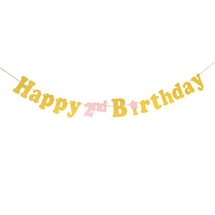 Amazon Happy 2nd Birthday Banner Second Bunting Baby