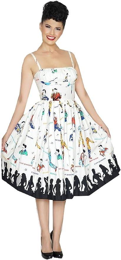 Hale Bob Womens Outside The Lines Border Long Sleeve Jersey Dress