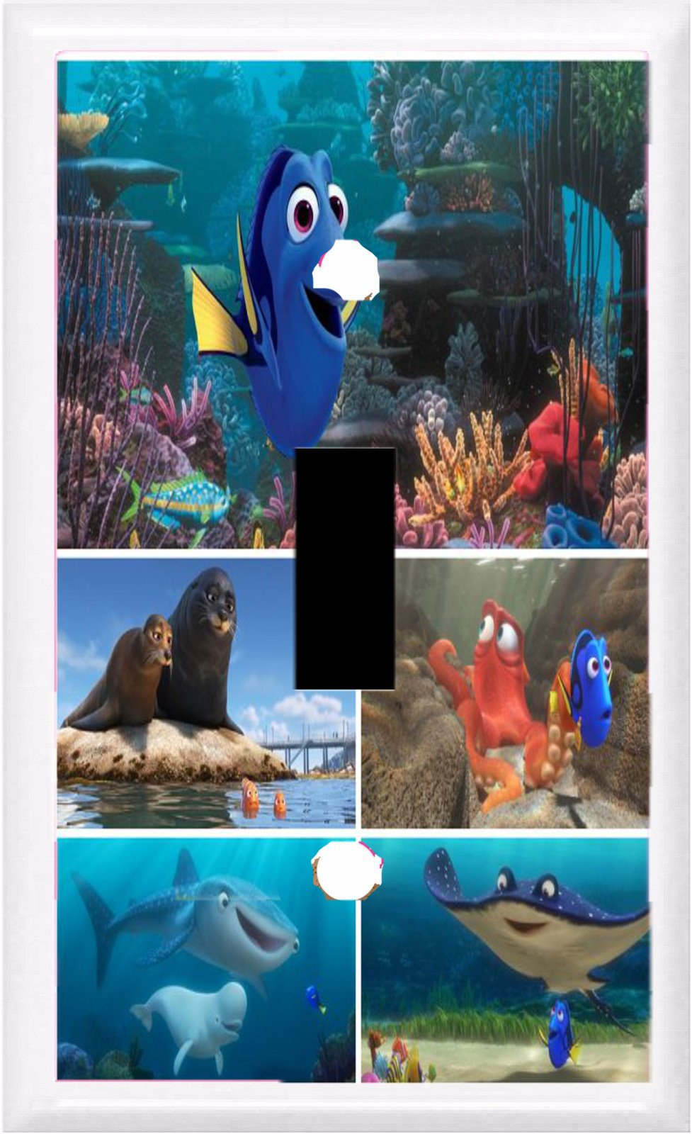 GOT YOU COVERED FINDING DORY AND FRIENDS LIGHT SWITCH COVER OR OUTLET (1x toggle option 3)