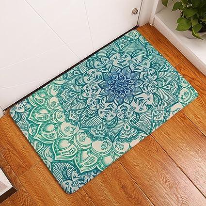 Xu0026Y Printing Carpet Door Mats Foot Pad Kitchen Toilets Strip Water  Absorption Non Slip Mat