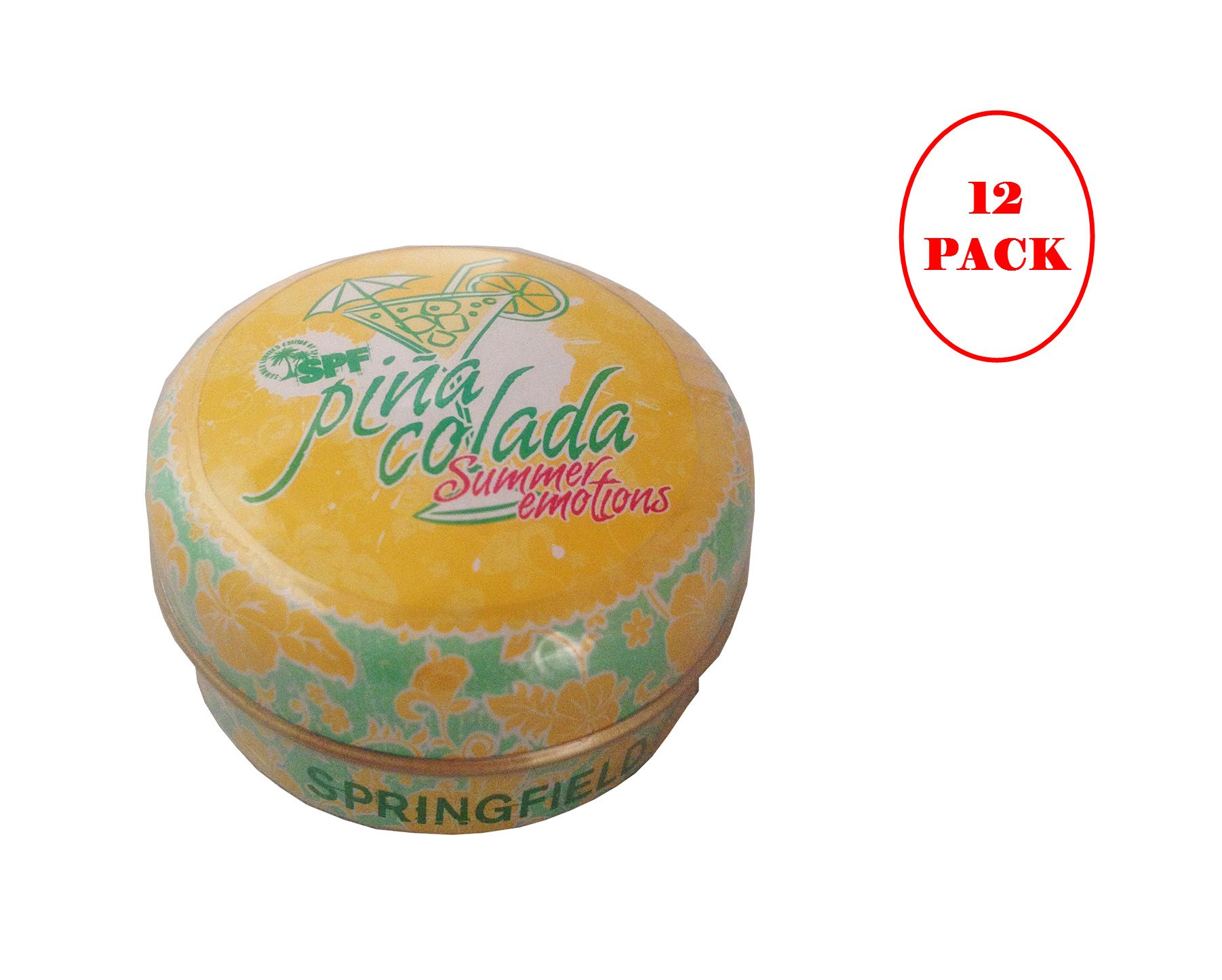 Springfield Pina Colada Lip Balm 15ml. Pack of 12