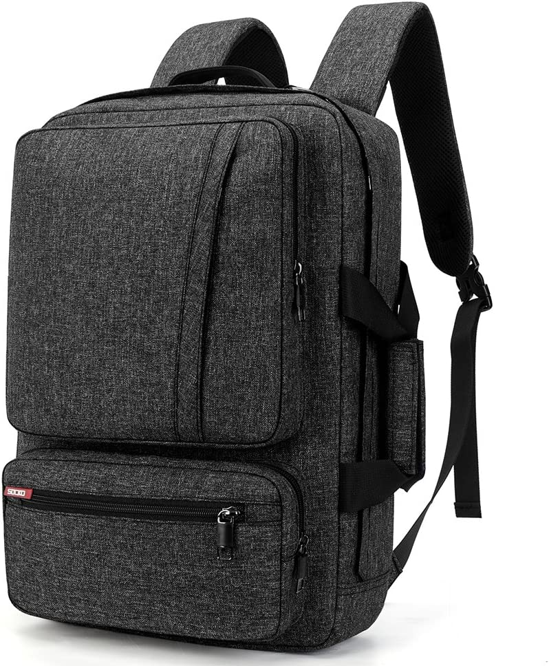 SOCKO 17 Inch Laptop Backpack Convertible Backpack Travel Computer Bag Hiking Knapsack Rucksack College Shoulder Back Pack Fits up to 17 Inches Laptop Notebook for Men/Women, Dark Grey
