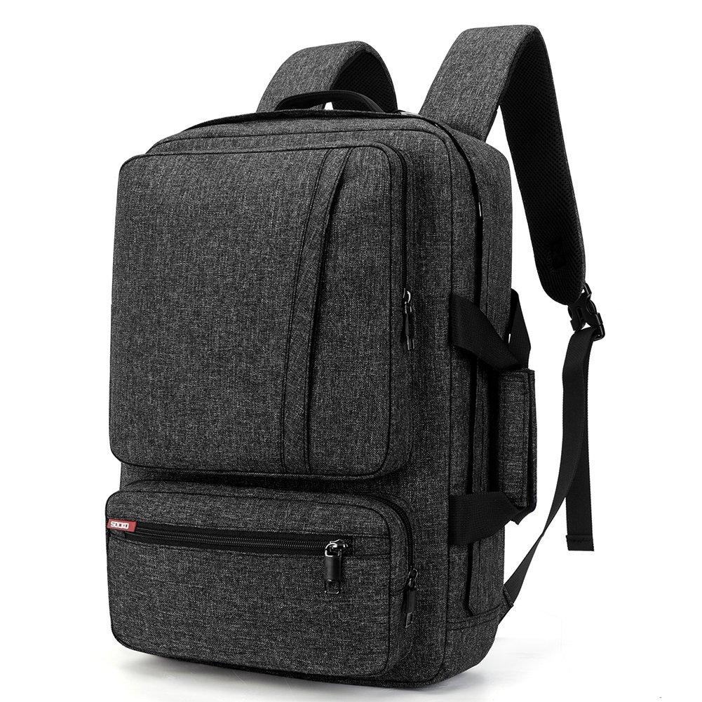 SOCKO 17 Inch Laptop Backpack Convertible Backpack Travel Computer Bag  Hiking Knapsack Rucksack College Shoulder Back Pack Fits up to 17 Inches  Laptop