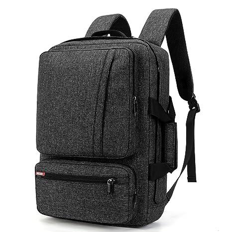 757642e0555f SOCKO 17 Inch Laptop Backpack Convertible Backpack Travel Computer Bag  Hiking Knapsack Rucksack College Shoulder Back