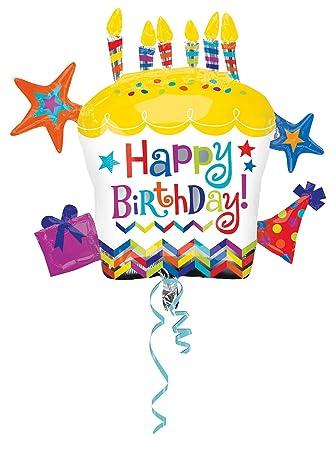 amscan - Globo de cumpleaños con Forma de Cupcake (28/71 x 26/66 cm)