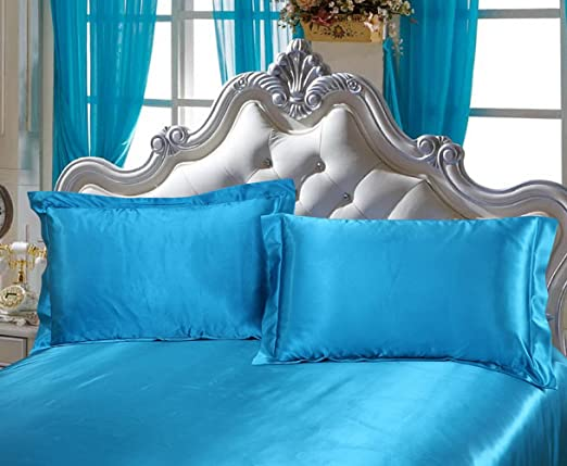 Include 2 Standard Pillowcases Colorful Mart White Silk Pillowcase Prevent Side Sleeping Wrinkles Envelope Closure Have Good Dreams