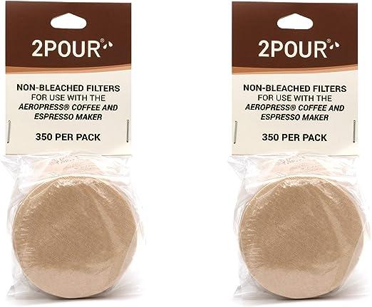 2 filtros de papel de repuesto reutilizables para usar con la ...