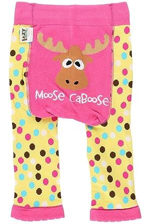 LazyOne Girls Moose Caboose Infant Leggings