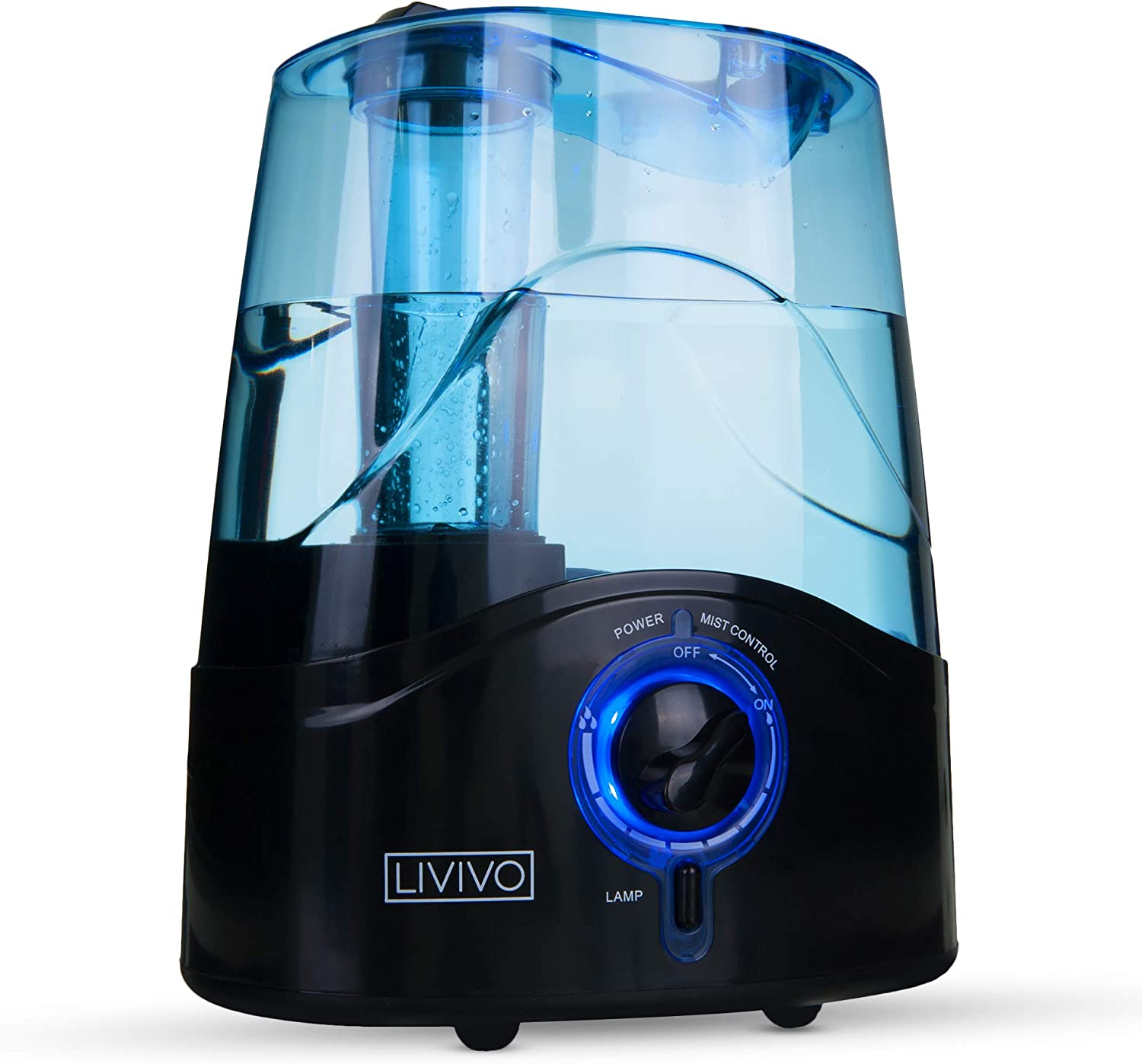 LIVIVO 4.5L Ultrasonic Cool Mist Humidifier Good For Sleep Skin Health, Relieves Cold Asthma 16 Working Hours LED Light Fresh Quiet Air Humidifiers