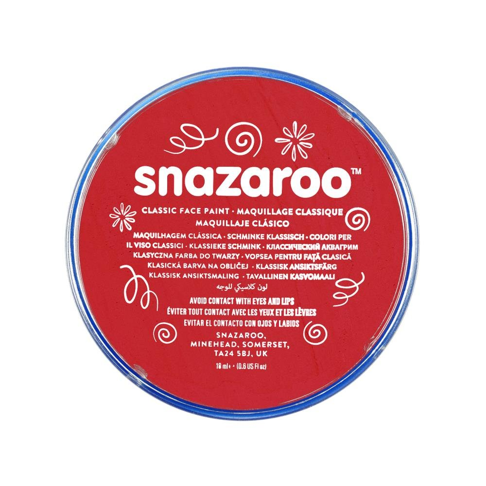 Snazaroo, Bright Red 1118055 Classic Face Paint, 18ml