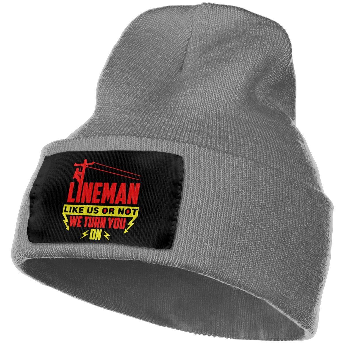 Lineman Like US Turn You On Unisex 3D Knitted Hat Skull Hat Beanie Cap
