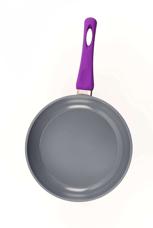 Darna Tirol 24 cm de aluminio fundido con revestimiento de cerámica sartén en lila Grey Interior: Amazon.es: Hogar