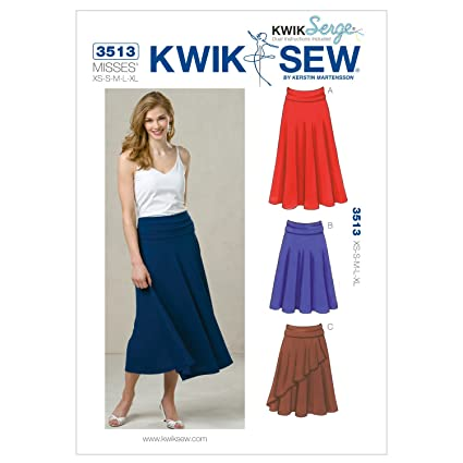 Amazon.com: Kwik Sew K3513 Skirts Sewing Pattern, Size XS-S-M-L-XL ...