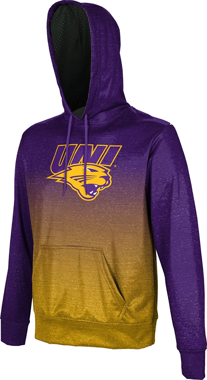 School Spirit Sweatshirt Ombre University of Northern Iowa Mens Pullover Hoodie