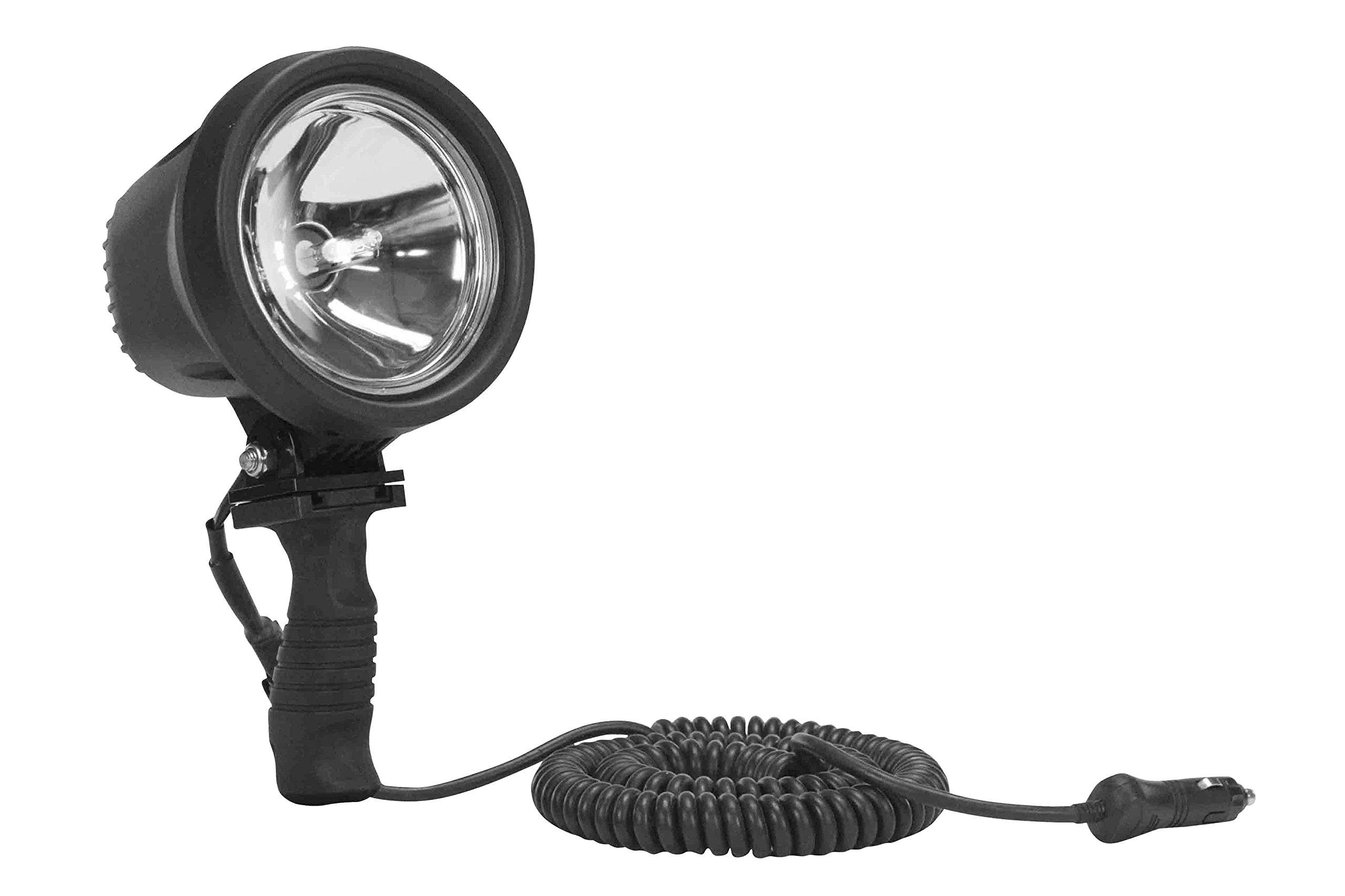 15 Million Candlepower - HID Handheld Spotlight - 16' Cord w/ Cigarette Plug(-12V-16' Batt Clamps)