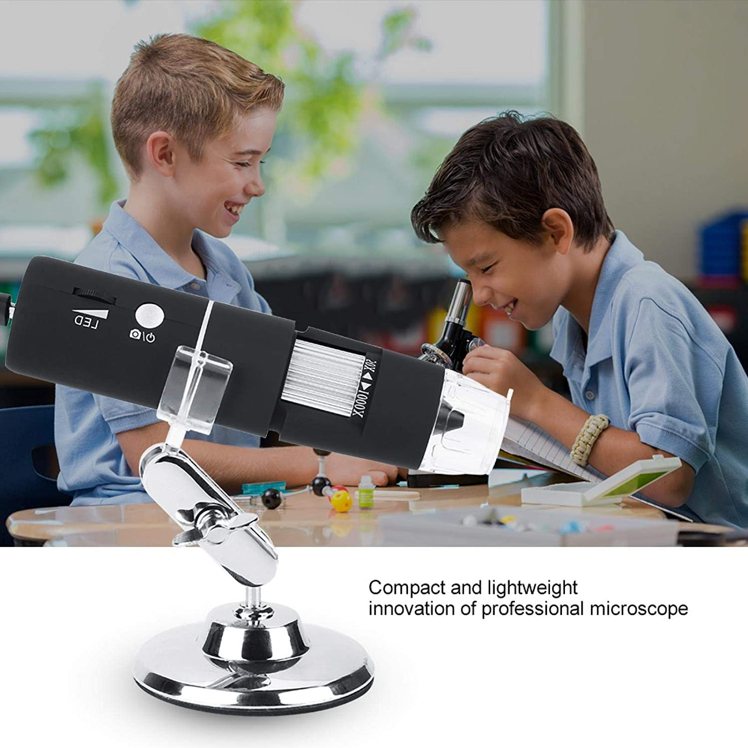 Microscope Wireless Microscope 750N IP54 Standard Protection Level 1000X Durable for Electric Sofa Low Noise Camera