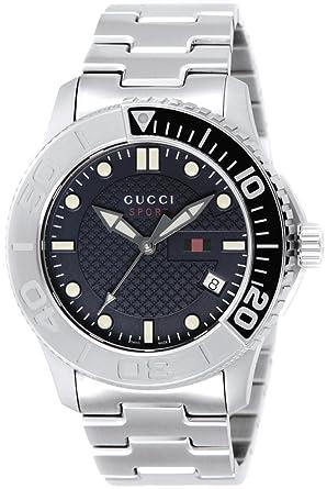 d6b7e9374e61 [グッチ]GUCCI 腕時計 G-TIMELESS ブルー文字盤 100m防水 デイト YA126253 メンズ