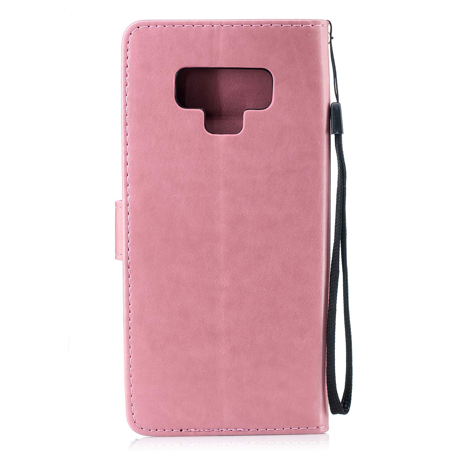 Samsung Galaxy Note 9 Case, AIIYG DS 3D Pattern [Kickstand Feature] Flip Folio Leather Wallet Case with ID and Credit Card Pockets for Galaxy Note 9 (Pink Pineapple) by AIIYG DS (Image #2)