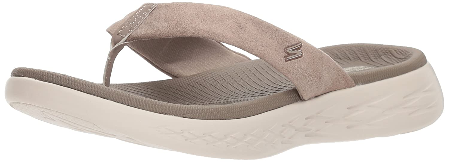 Skechers 15303 On-The-Go 600 Polished - White/Light Blue  UK6|Taupe
