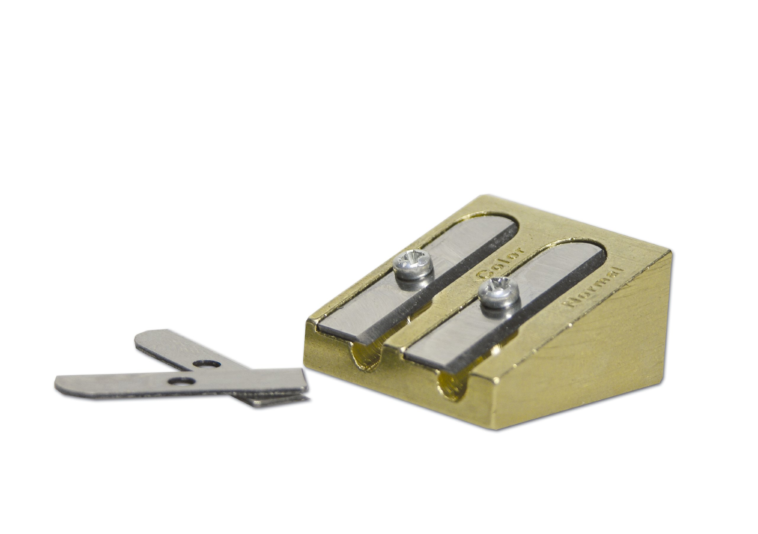 Dual Hole Sharpener with Replacement Blades Bruynzeel Gold