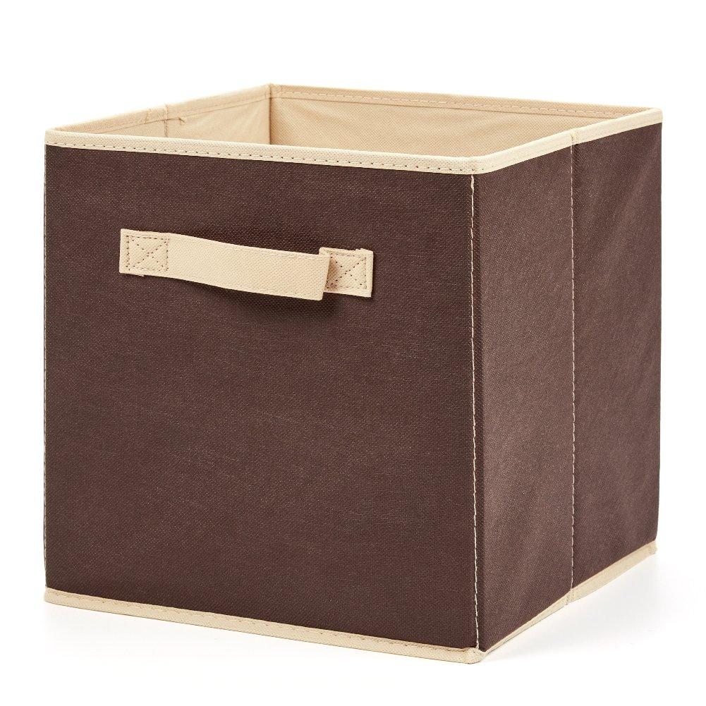 EZOWare Caja de Almacenaje con 6 pcs, Set de 6 Cajas de Juguetes, Caja de Tela para Almacenaje, Hazelnut: Amazon.es: Hogar