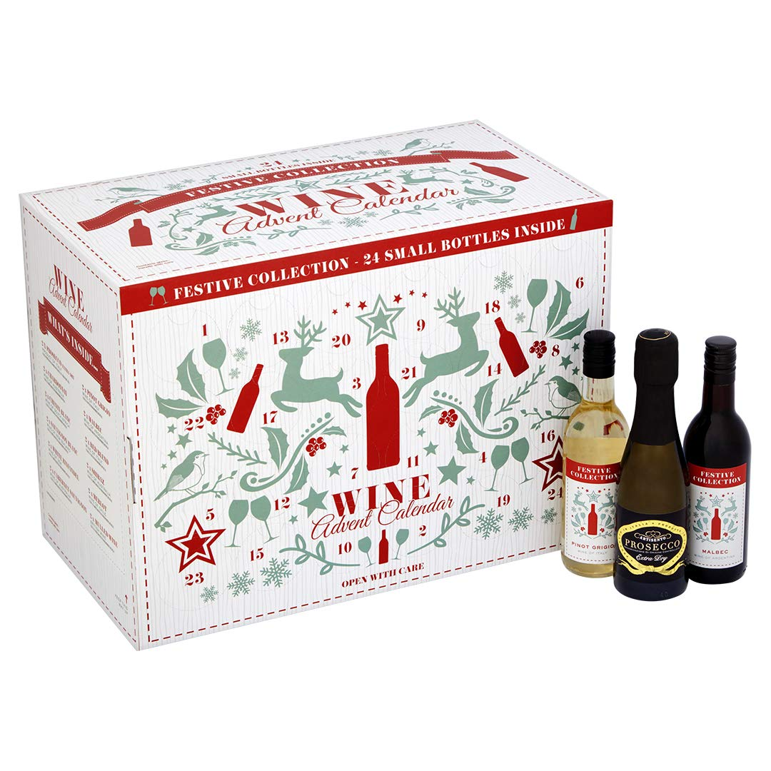 Wine Christmas Packaging.Christmas Wine And Prosecco Advent Calendar Case Of 24