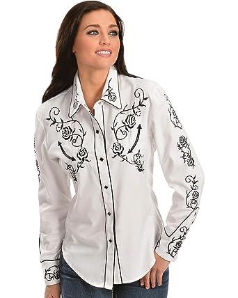 Bandolino Frannie Floral Embroidered Shirt ...