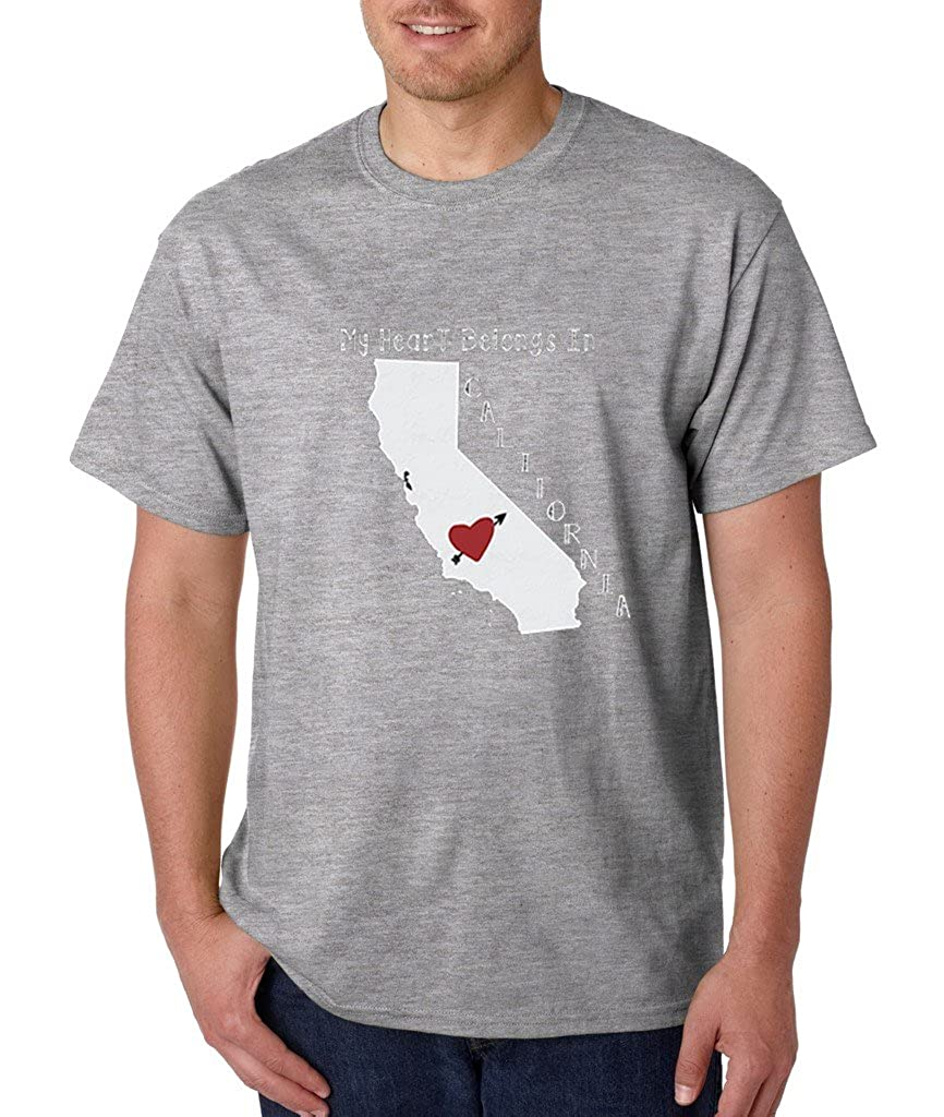 My Heart Belongs in California T-shirt California State Home Shirts