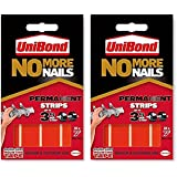 2xUniBond No More Nails Permanent Strips - Pack of 10