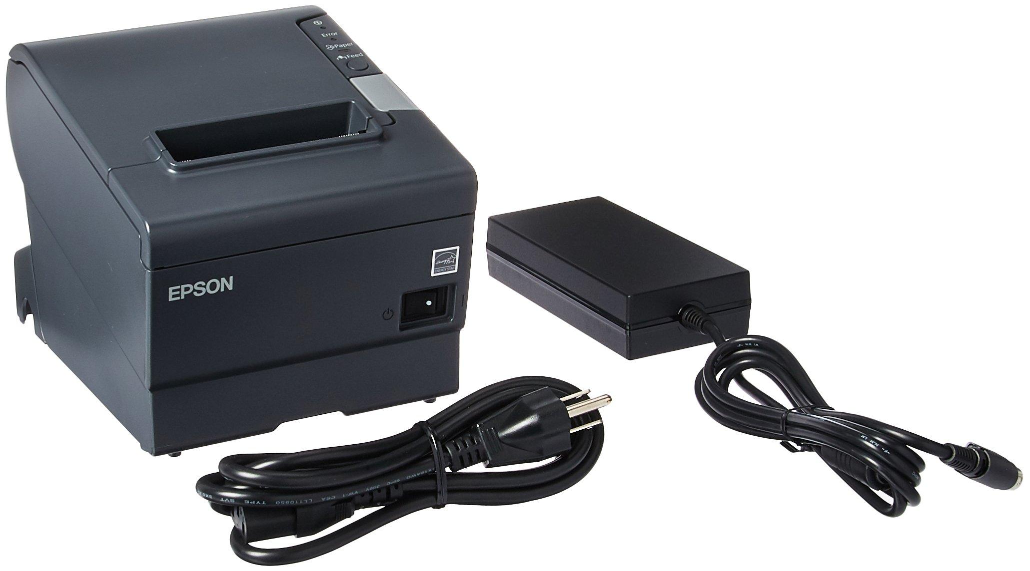 Epson TM-T88V Thermal Receipt Printer (USB/Serial/PS180 Power Supply) by Epson