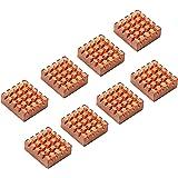 8セット ラズベリーパイVGA RAM冷却ヒートシンククーラーのための 冷却の銅製ヒートシンク