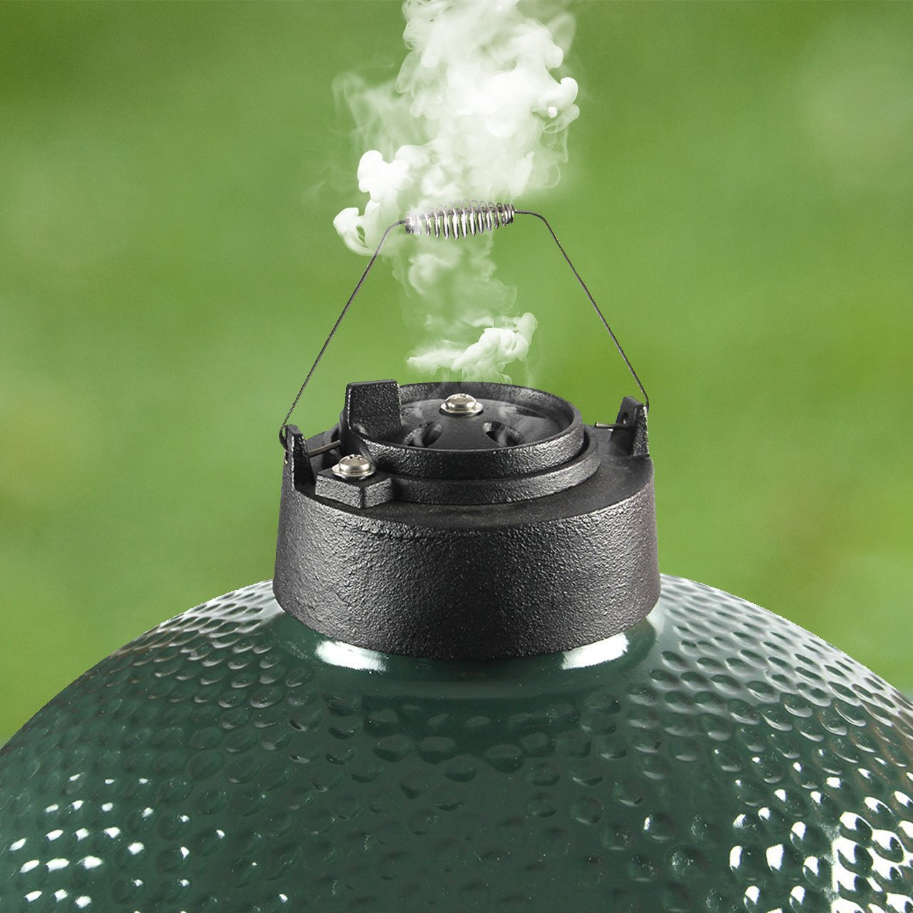 Dracarys Cast Iron Vented Chimney Cap for Big Green Egg Dual Function Metal Top,Big Green Egg Accessories Daisy Wheel for Large&Medium Big Green Egg Damper Chimney Cap Big Green Egg Replacement Parts by Dracarys