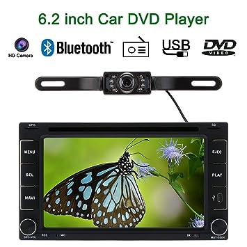 "KKmoon 6.2"" Reproductor Multimedia Navegador GPS 2 Din DVD/USB/SD Bluetooth Radio"