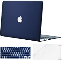 Mosiso Funda Dura Compatible MacBook Air 13 Pulgadas (A1369 / A1466, Versión 2010-2017), Carcasa Rígida de Plástico & Cubierta de Teclado (USA Versión) & Protector de Pantalla, Azul Marino