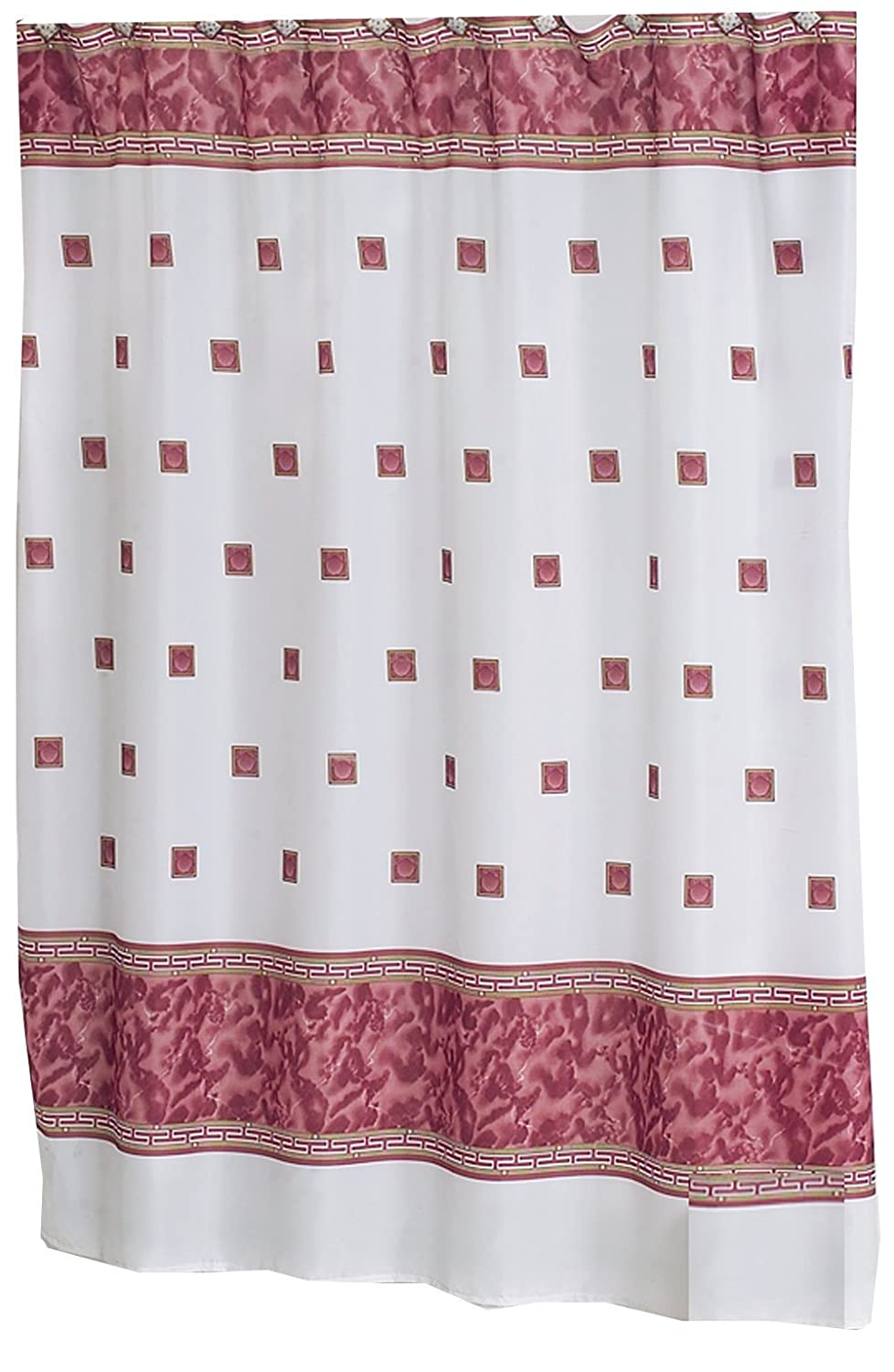 6 Ft Shower Curtain Part - 20: Amazon.com: Carnation Home Fashions Windsor Fabric Shower Curtain, Ivory:  Home U0026 Kitchen