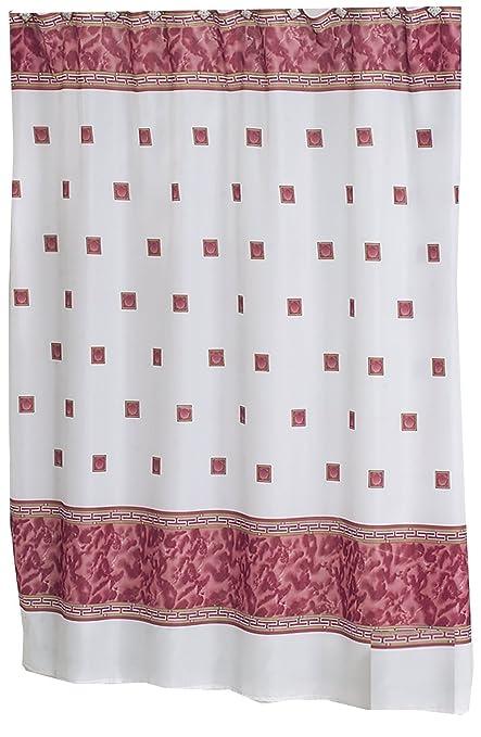 Carnation Home Fashions Windsor 6 Feet By Fabric Shower Curtain Burgundy