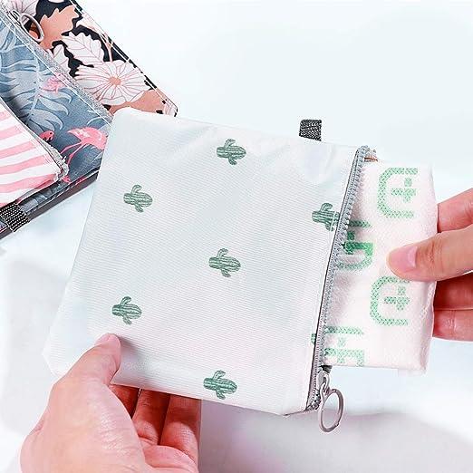 HEALLILY Bolsa de Servilletas con Cremallera Bolsa de Copa Menstrual Titular de Almohadilla de Lactancia Bolsa de Almacenamiento Organizador de ...