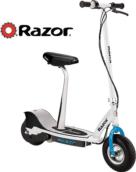 Razor E300s - Patinete eléctrico con Asiento, Color Blanco y ...
