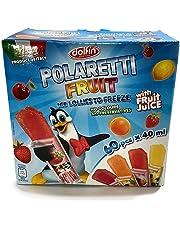 Dolfin Polaretti Fruit Juice Freezer Pops Ice Lollies to Freeze Pack of 60x40ml